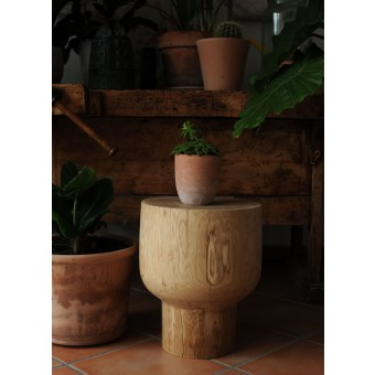 OnePieceWood – Couchtisch -  china glass - natural oak