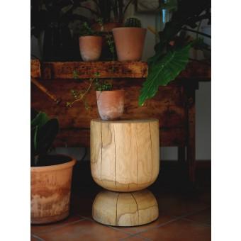 OnePieceWood – couchtisch - natural oak - glass shape