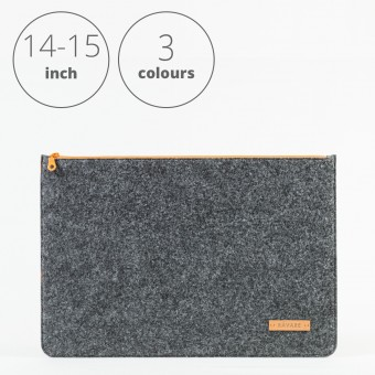 RÅVARE Laptop Notebock Sleeve Case Hülle mit Reißverschluss für verschiedene Modelle in Größe L und in verschiedenen Farben [DAKOTA L]