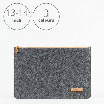 RÅVARE Laptop Notebock Sleeve Case Hülle mit Reißverschluss für verschiedene Modelle in Größe M und in verschiedenen Farben [DAKOTA M]