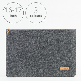 RÅVARE Laptop Notebock Sleeve Case Hülle mit Reißverschluss für  verschiedene Modelle in Größe XL und in verschiedenen Farben [DAKOTA XL]