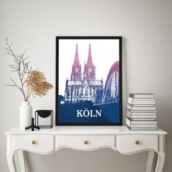 Stadtliebe® | Köln - Kölner Dom Kunstdruck verschiedene Größen DIN A3