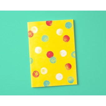 Notizheft A5 Dots on yellow // Papaya paper products