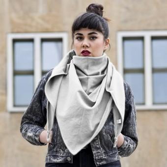 ELIZA SCHWARZ warmes XXL unisex Dreieckstuch (grau)