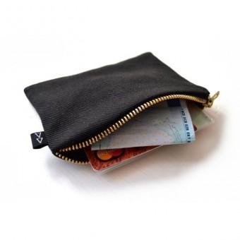 ELIZA SCHWARZ Portemonnaie aus Jeansstoff schwarz, vegan