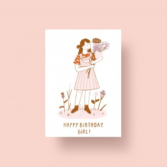 "Notietzblock Postkarte ""Happy Birthday, Girl"", A6"