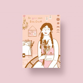 """Notietzblock Postkarte """"Be your own girl crush"""" A6"""