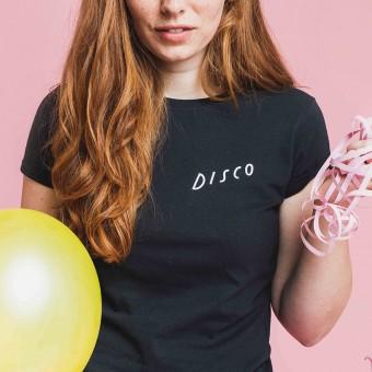 Notietzblock Disco Tshirt schwarz