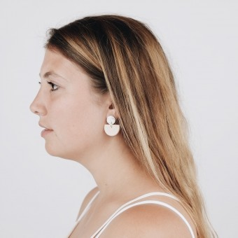 EVE + ADIS // ACUNA EARRINGS nude