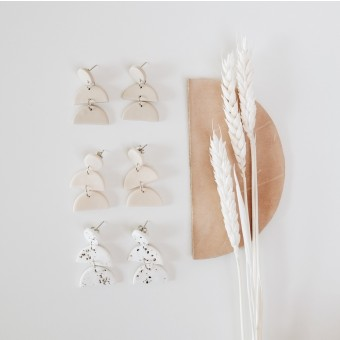EVE + ADIS // FIO EARRINGS pebble grey