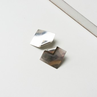 Puur Jewellery - Silber Ohrring No.2 - Folded Collection