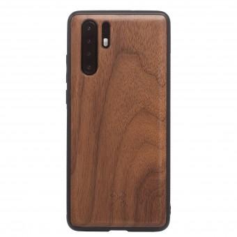 Woodcessories - EcoBump - Premium Design Hülle, Case, Cover, Schutzhülle für das Smartphone aus FSC zertifiziertem Walnuss Holz (Huawei P30 Pro)