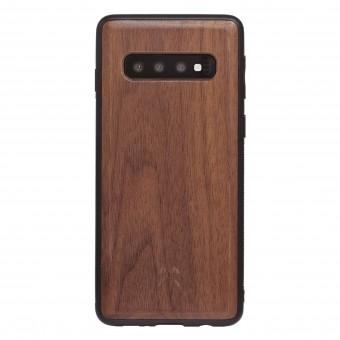 Woodcessories - EcoBump - Premium Design Hülle, Case, Cover, Schutzhülle für das Smartphone aus FSC zertifiziertem Walnuss Holz (Samsung S10)