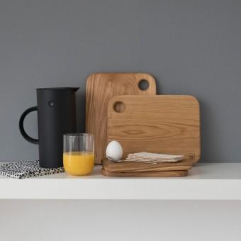 "Frühstücksbrettchen - ""Ei-Pad"" aus Eichenholz (groß) - Anton Doll Holzmanufaktur"
