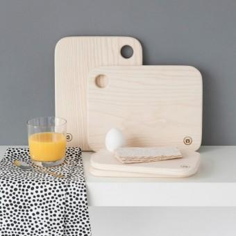 """Frühstücksbrettchen - """"Ei-Pad"""" aus Eschenholz (groß) - Anton Doll Holzmanufaktur"""