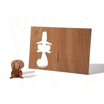 formes Berlin Eichhörnchen-Karten - 6 Postkarten aus Holz