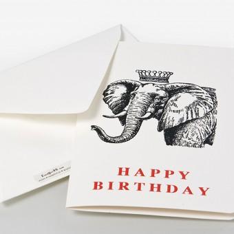 fundgut99 Geburtstagskarte Elefant