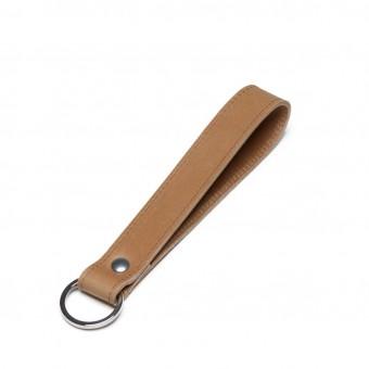 Kurzes Schlüsselband aus Leder von ElektroPulli - Braun