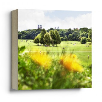 """München im Quadrat - """"Englischer Garten"""" - Fotokachel"""