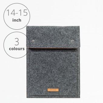 RÅVARE Laptop Notebock Sleeve Case Hülle mit Druckknöpfen für verschiedene Modelle in Größe L und in verschiedenen Farben [ENNO L]