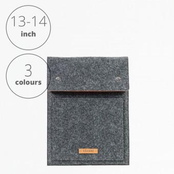 RÅVARE Laptop Notebock Sleeve Case Hülle mit Druckknöpfen für verschiedene Modelle in Größe M und in verschiedenen Farben [ENNO M]