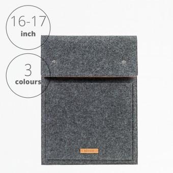 RÅVARE Laptop Notebock Sleeve Case Hülle mit Druckknöpfen für verschiedene Modelle in Größe XL und in verschiedenen Farben [ENNO XL]