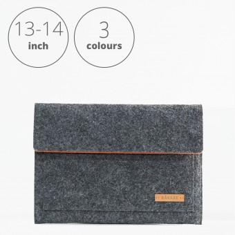 RÅVARE Laptop Notebock Sleeve Case Hülle mit Klettlasche für verschiedene Modelle in Größe M und in verschiedenen Farben [ESMA M]