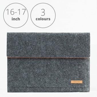 RÅVARE Laptop Notebock Sleeve Case Hülle mit Klettlasche für verschiedene Modelle in Größe XL und in verschiedenen Farben [ESMA XL]