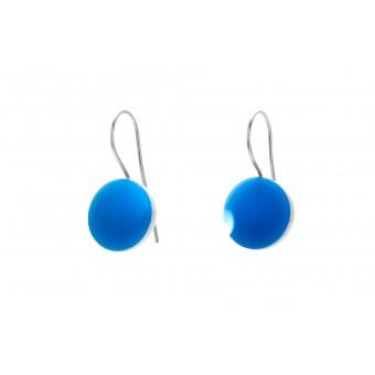 "Eva Slotta Jewellery ""Tint Deep"" Ohrschmuck mit blauem Achat, 925 Silber"