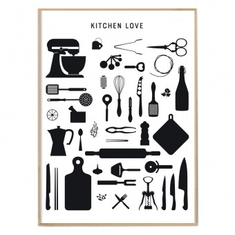 FOX&POET Poster *KITCHEN LOVE*