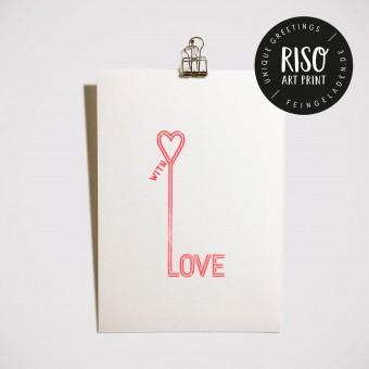 Feingeladen // TYPOGRAFICA // Love (FR) Kunstdruck, A5