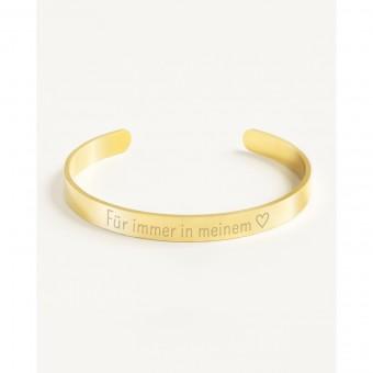 Oh Bracelet Berlin - Glänzender Armreif »Für immer in meinem Herzen«