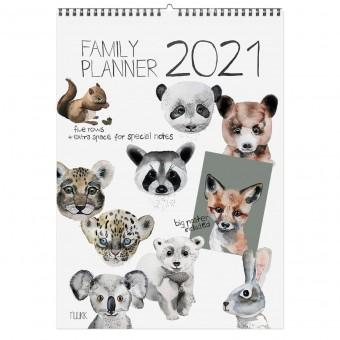 SALE! nuukk Tierfreunde - 2021 Familien-Kalender mit Poster