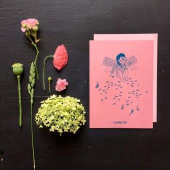 Mit Ohne Rosa Druck kleine Feeministin (DIN A6)