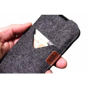 Pack & Smooch iPhone 12 Pro / 12 Hülle mit Kartenfach SHETLAND 100% Merino Wollfilz (Mulesing-frei)