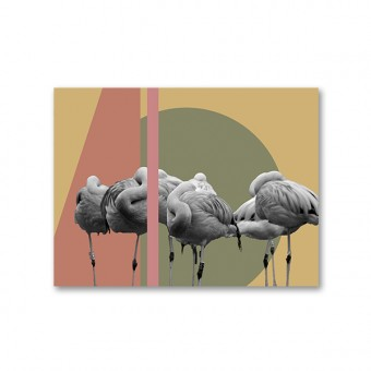"ZEITLOOPS ""Flamingos"", Fineartprint, 45x60cm"