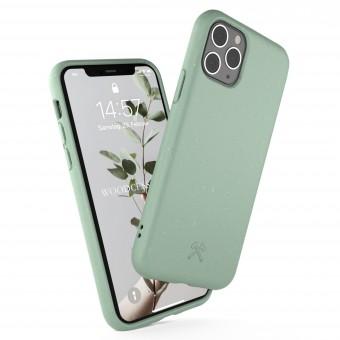Woodcessories - Selbstreinigende iPhone Bio Hülle aus pflanzlichen Materialien - Kompostierbar &, Antibakteriell - Mint Grün