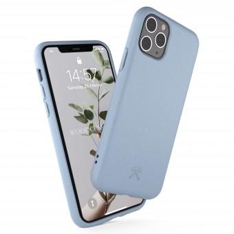 Woodcessories - Selbstreinigende iPhone Bio Hülle aus pflanzlichen Materialien - Kompostierbar &, Antibakteriell - Lavendel Blau