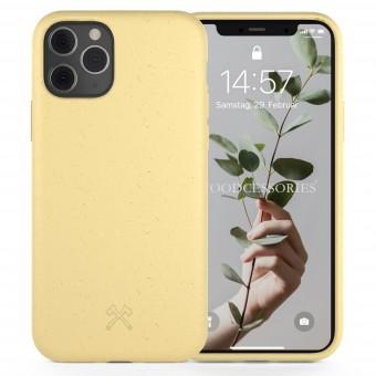 Woodcessories - Selbstreinigende iPhone Bio Hülle aus pflanzlichen Materialien - Kompostierbar &, Antibakteriell - Citrus Gelb