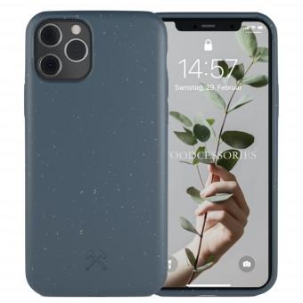 Woodcessories - Selbstreinigende iPhone Bio Hülle aus pflanzlichen Materialien - Kompostierbar &, Antibakteriell - Navy Blau