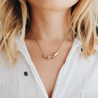 eve & adis / TALA NECKLACE BLUSH