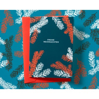 Weihnachtskarte Tannenzweige // Papaya paper products