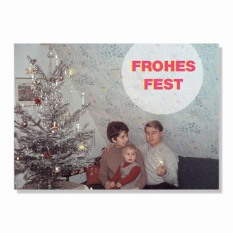 "ZEITLOOPS Postkarte ""Frohes Fest"""