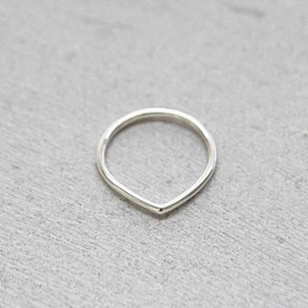 iloveblossom Fun With Geometry DROP Ring SILBER