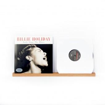 VLO design / Wandregal, Schallplattencover Regalleiste (für zwei Schallplatten) aus Dunkel Eiche