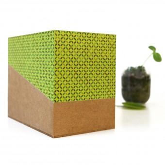 sperlingB _ Gartenbox hellgrün Gartentagebuch, Pflanzensammlung, Samentüten, ...