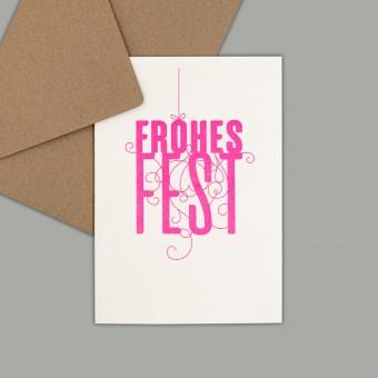 Feingeladen // FANCY TYPE // Frohes Fest (FP) // RISO-Klappkarte, A6