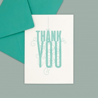 Feingeladen // FANCY TYPE // Thank you (MI) // RISO-Klappkarte, A6