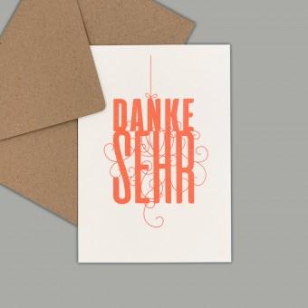 Feingeladen // FANCY TYPE // Danke sehr (FO) // RISO-Klappkarte, A6
