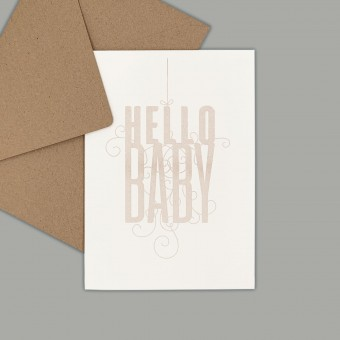 Feingeladen // FANCY TYPE // Hello Baby (BQ) – A6